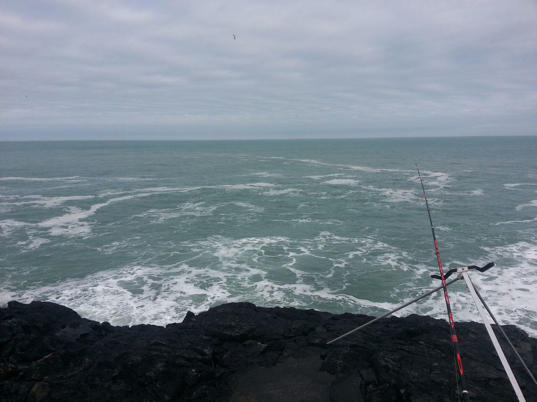 A rough sea at The Lookout - St Ives Cornwall Fishing Sea Sea Angling Seascape St Ives Stormy Sea