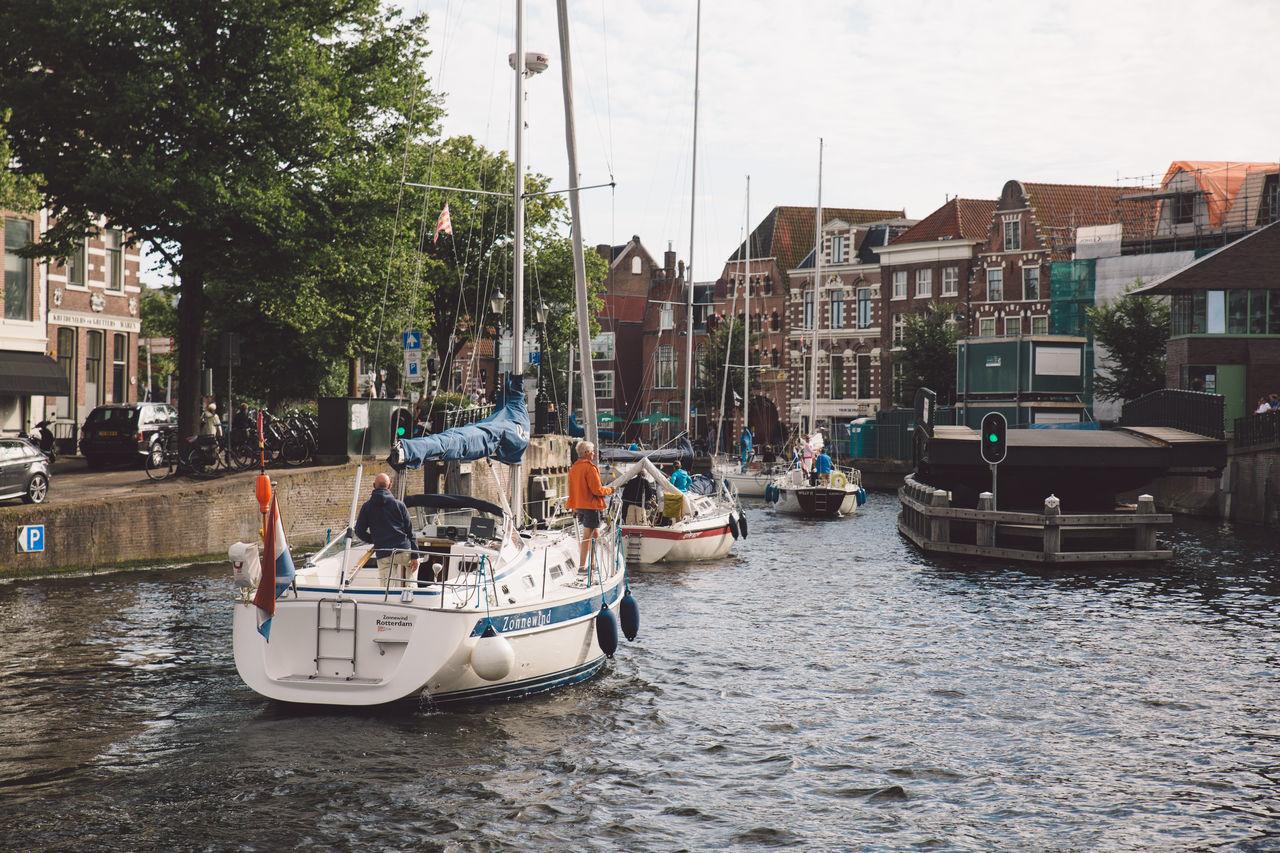 Architecture Haarlem Haarlemse Haarlemse Vaardagen 2017 Boats Canal Cruise Dutch River Ships Spaarne Vaardagen