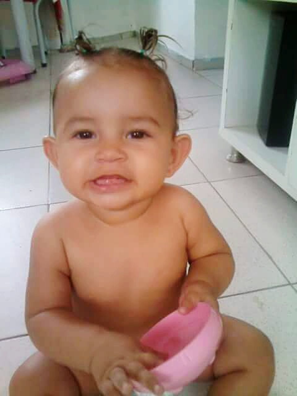 baby, babies only, domestic bathroom, shirtless, cute, innocence, indoors, childhood, bathroom, portrait, sitting, one person, looking at camera, people, domestic room, day, close-up