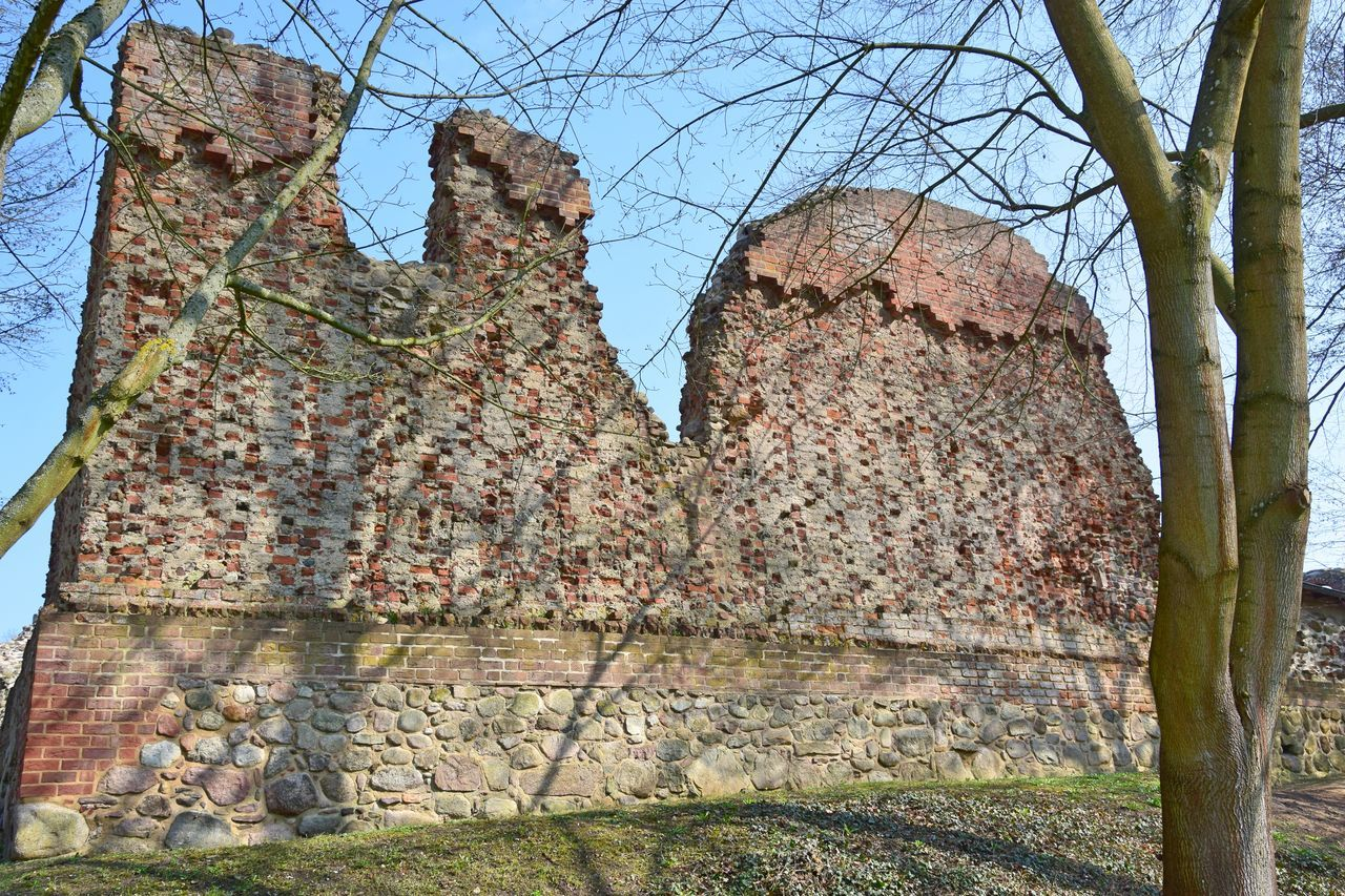 Architecture Brick Wall Built Structure Day Historic Historical Building Nature No People Old Old Buildings Outdoors Ruined Ruined Building Sky Tree Wasserburg Gerswalde