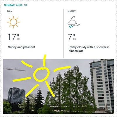 Hey, Accuweather ?! Do you guys even look trough the Window before publishing Weather Forecast ?! Obviously this is the only way to see Sun at Northshore Northvancouver Today . Sunnyday Vancouver Vancouverisawesome Vancitybuzz