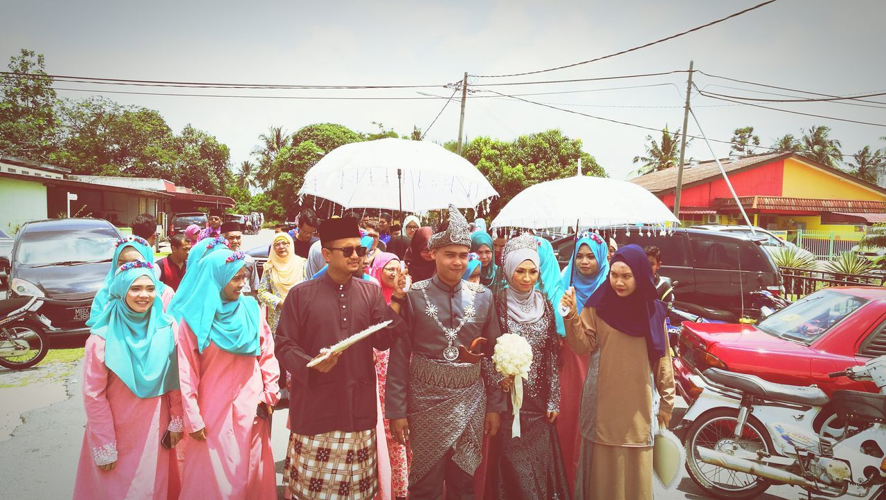 Malaysian muslim wedding ceremony. Medium Group Of People Casual Clothing Person Crowd Outdoors Day People Watching Taking Photos Hello World Enjoying Life Moving Up Walking Around