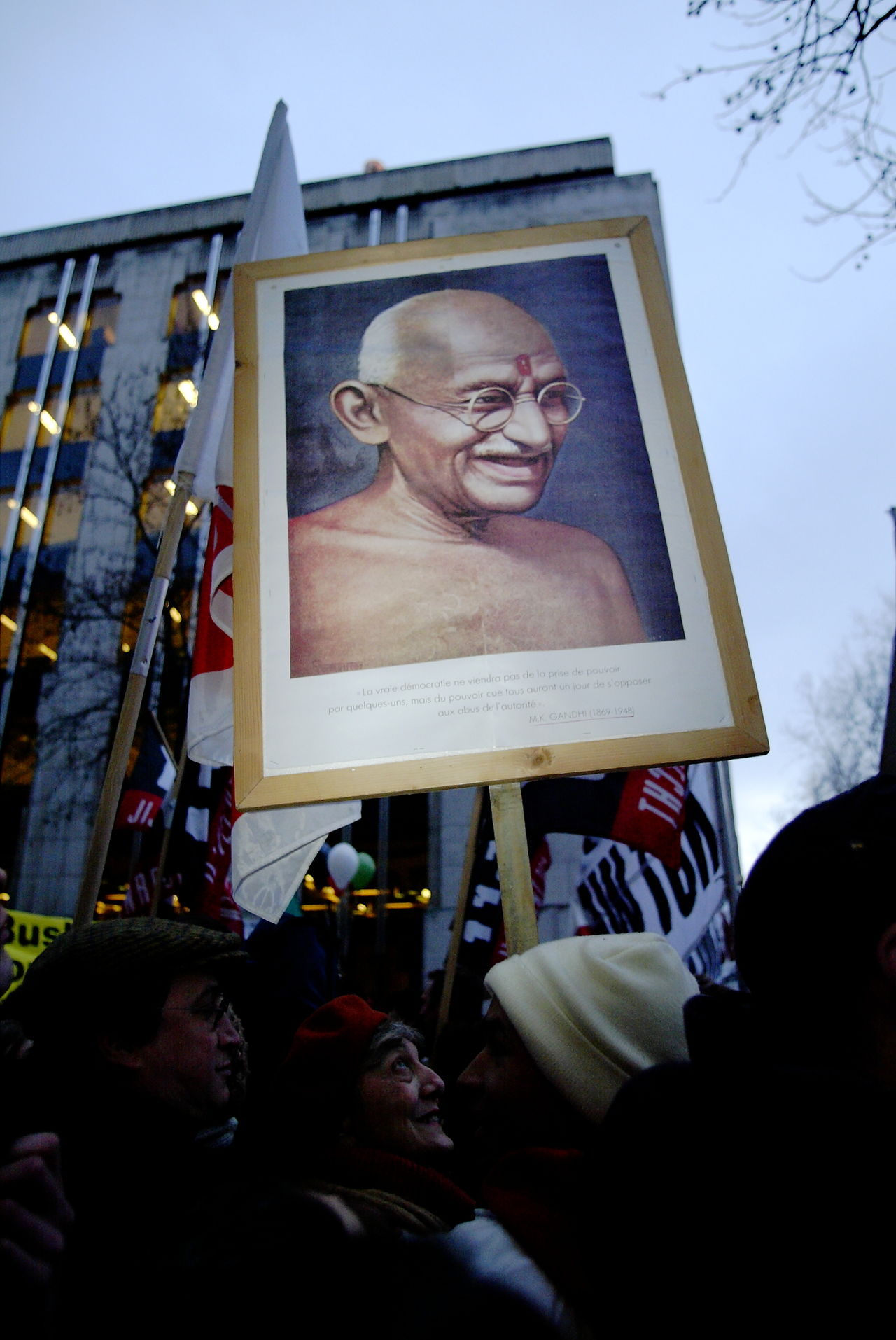 Adult Archival Day Ghandi Mahatma Ghandi Non Violence Non Violence Symbol Only Men Outdoors Panel Peace Symbol People Sign Signboard Sky Symbol