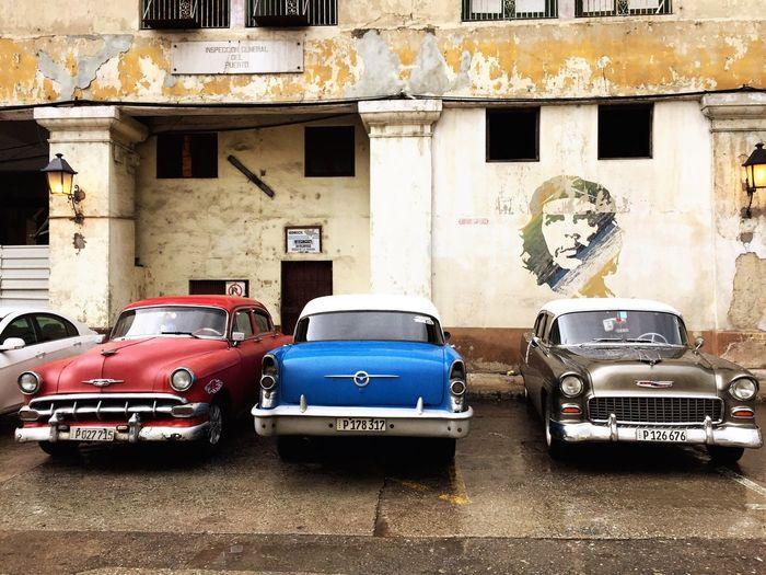 classic Car Che Guevara Cuba Havana Land Vehicle City
