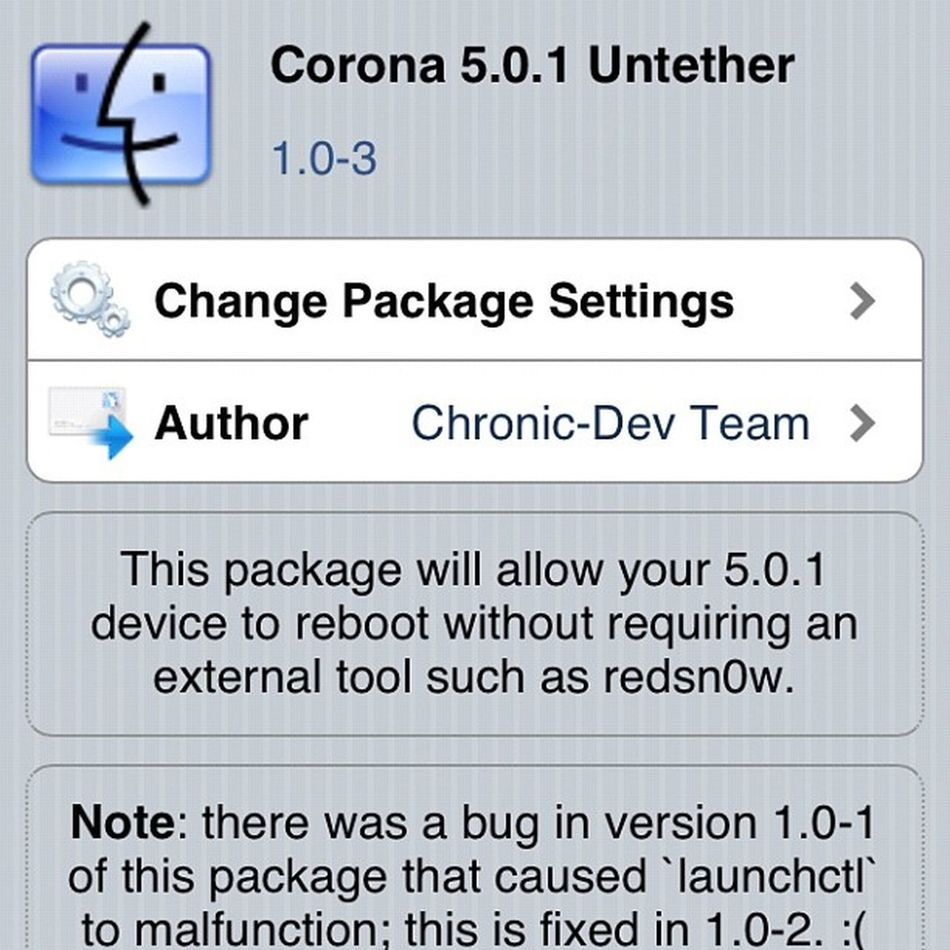 Finally got my untethered jailbreak been waiting for this for 2 months :D thank you Pod2g Untethered Jailbreak Ios501 iphone4