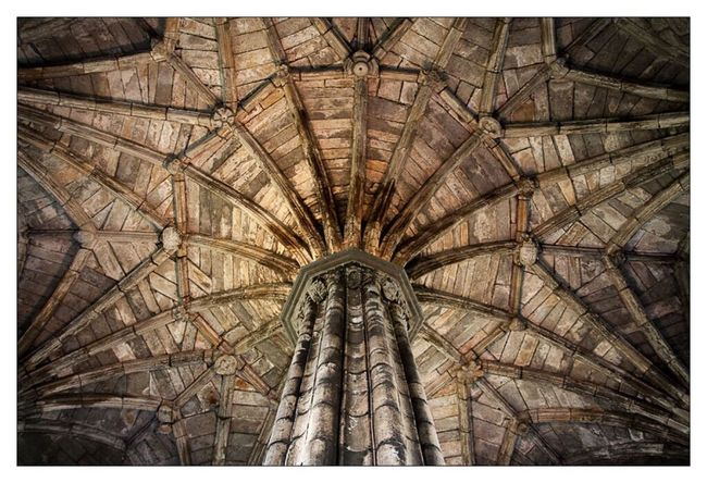 Lookingup in Elgin Cathedral Scotland On The Road Traveling Perspective Old Buildings