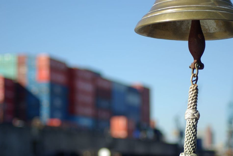 Beautiful stock photos of hamburg, Bell, Close-Up, Commercial Dock, Container
