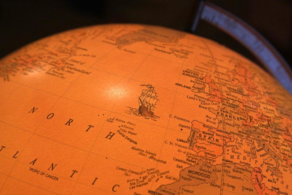 Beautiful stock photos of map, Close-Up, Communication, Globe - Man Made Object, Indoors