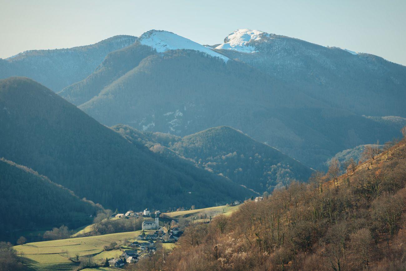 Pyrenees France Mountains Landscape Midi-Pyrenees Village