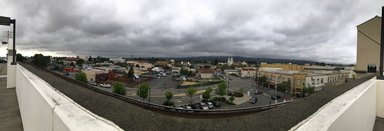 Fruitvale Bart, Oakland, California Cloud - Sky Sky Built Structure Architecture Building Exterior Day Panoramic Outdoors Road Storm Cloud No People City Cityscape Tree