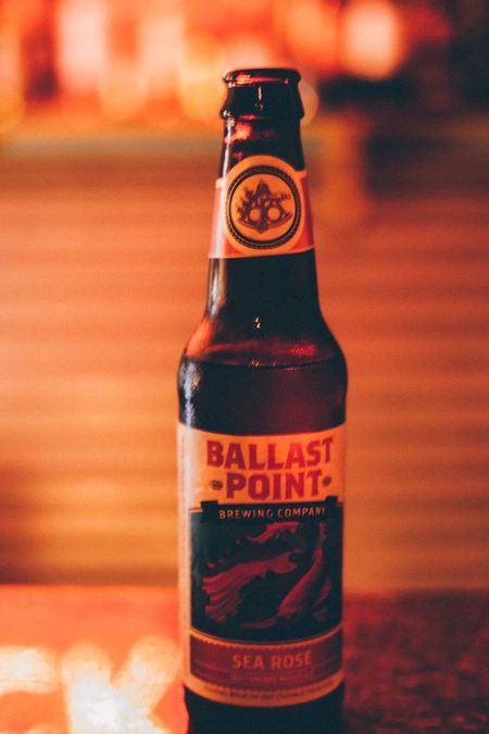 Good beer from Brick. Alcohol Bottle Drink Beer BallastPoint Ale Beer Glass Photography Aperture Priority Moody Food And Drink Warm Colors