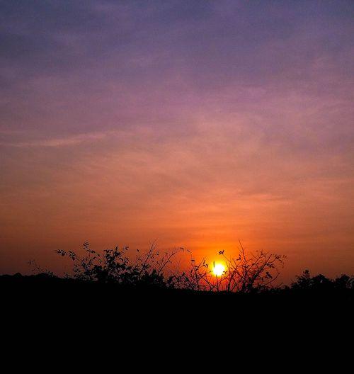 Sunset Orange Color Sky Beauty In Nature Nature Scenics Outdoors Silhouette No People Dramatic Sky Sun