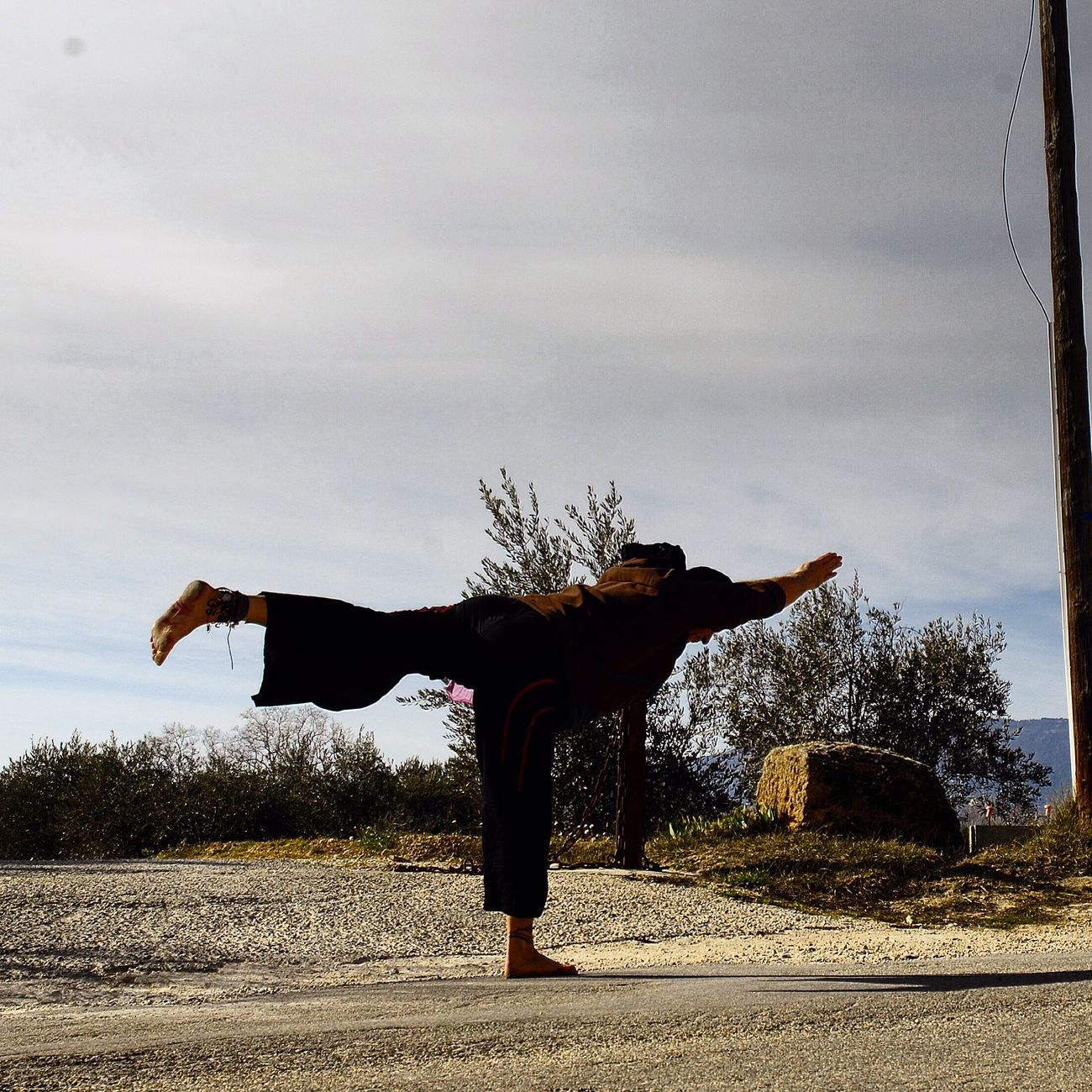 Namaste Yoga Freedom Relaxing Barefoot Lifestyle Inner Peace OM Just Live Barefoot Virabhadrasana III