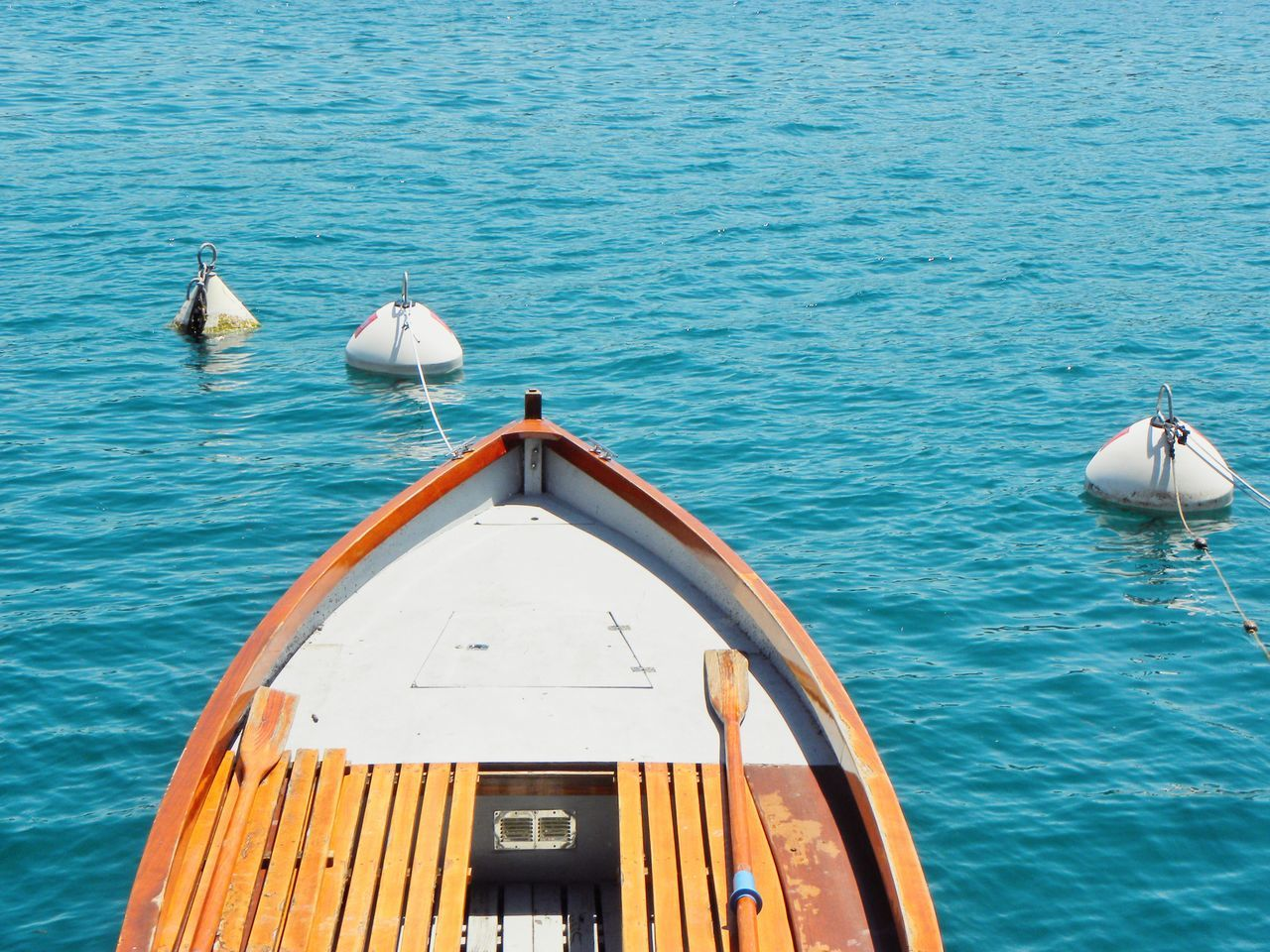 Sea Water No People Nature Day Outdoors Nautical Vessel High Angle View Tranquility Beach Colours Summer Time  Boat Part Of A Boat Relaxing Blue Sea Summer Time  Summer Blue Colour Quite Place Calm Water Calm Environment Buoy Buoy On The Water Sommergefühle