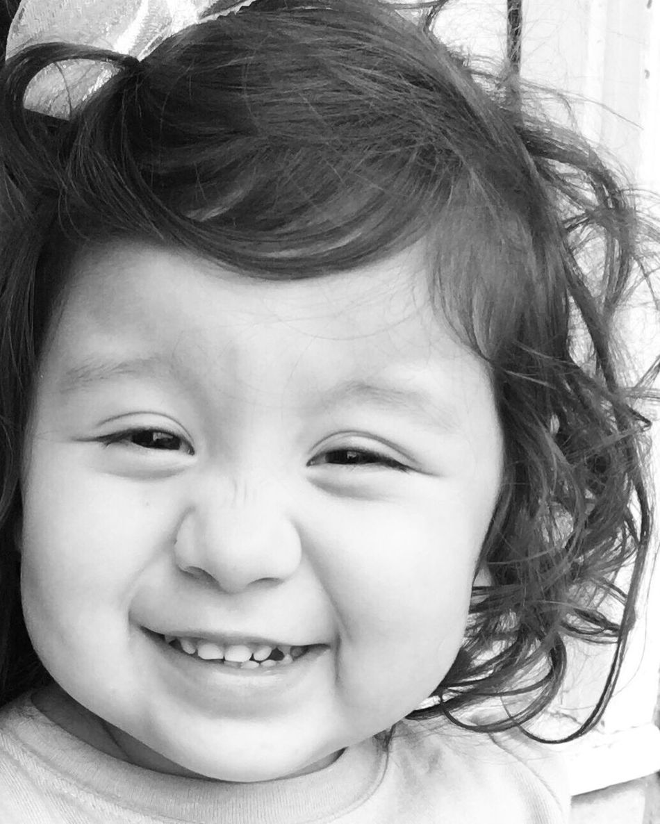 A different kind of love.... Cute Innocence Headshot Close-up Smiling Toddler  Grandbabies Aaliyah Close-up And Personal Black And White Photography Photographic Love Treasured Memories EE Love Connection!