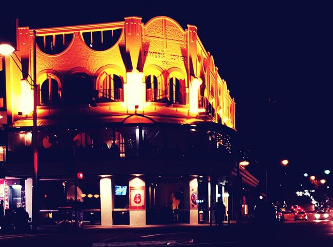 Architecture Illuminated Building Exterior Night Street City City Life Exterior Old Town Sydney, Australia Light And Shadow Check This Out Bondi Beach Old Buildings Old Colonial Life Bondi Springtime