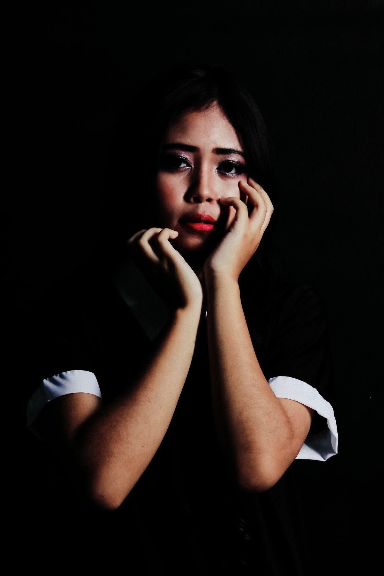 Beautiful stock photos of black background,  20-24 Years,  Bandung,  Black Background,  Depression - Sadness