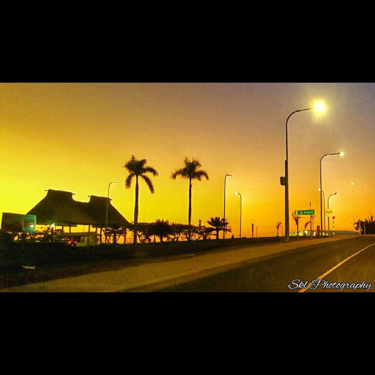 Bure Palm Trees Sunset Photography Cool Fiji Islands Peace