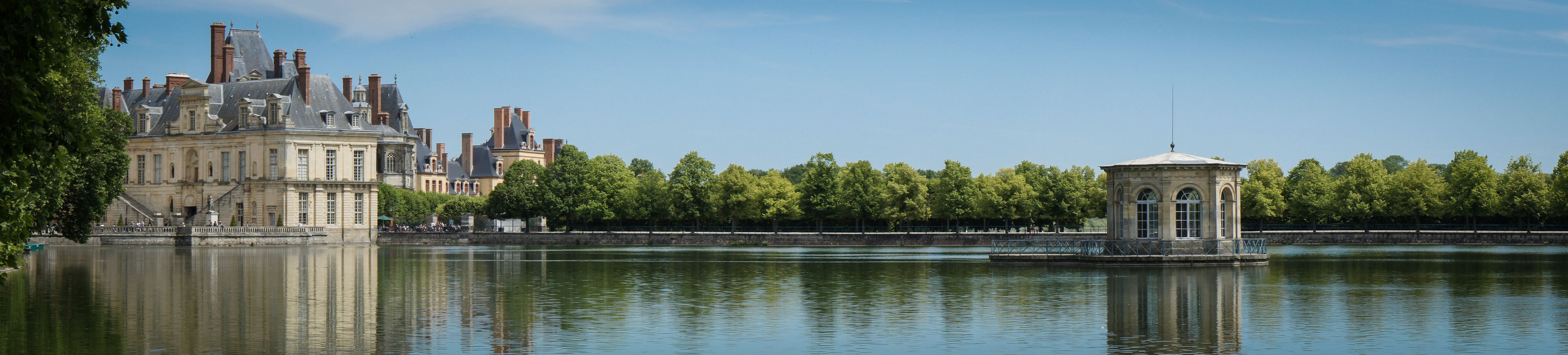 Architecture Built Structure Day Fontainebleau France Idyllic No People Outdoors Panoramic Panoramic Photography Scenics Sky Tranquil Scene Tranquility Tree Water
