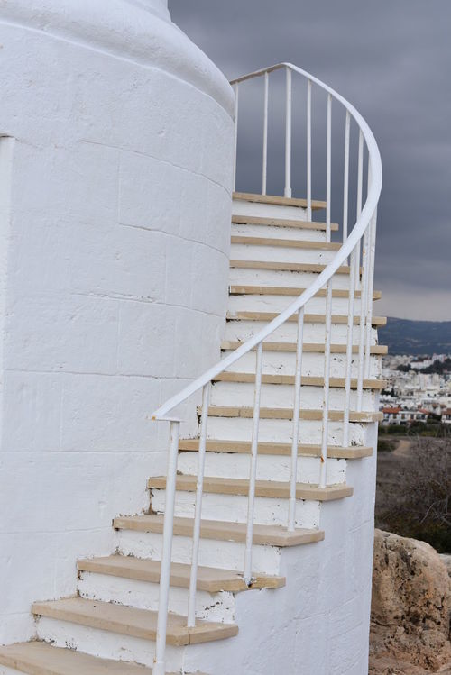 Cyprus Treppen Architecture Built Structure Close-up Day Leuchturm No People Outdoors Sky Staircase Steps Steps And Staircases White Color Whitewashed Zypern
