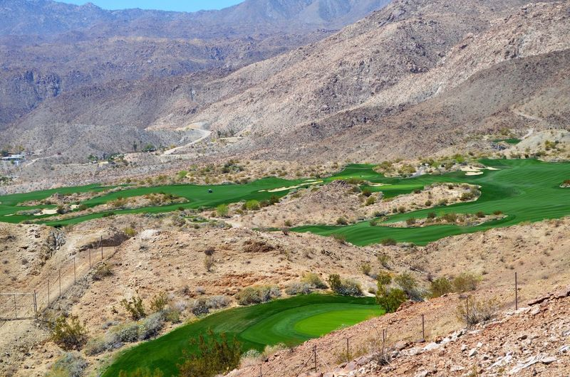The Color Of Sport Golfcourse Desert Golf Course In The Desert Green Color Mountain No People Outdoors Day Desert Landscape Grass