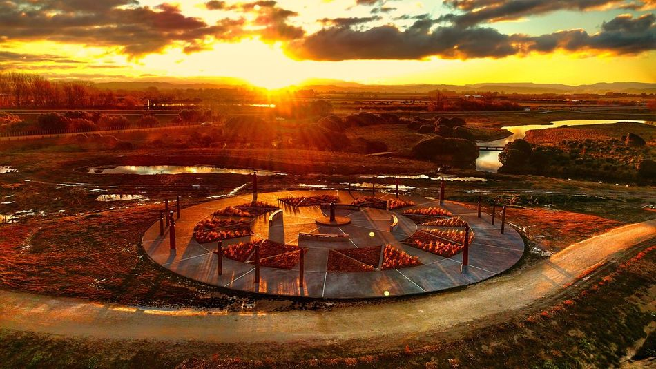 Birdeyeview Sunset Outdoors No People Beauty In Nature Sunlight Nature Tranquility Scenics Landscape Built Structure Sky Architecture Water Building Exterior Travel Destinations Day Cityscape Drone  Dronephotography Beauty In Nature