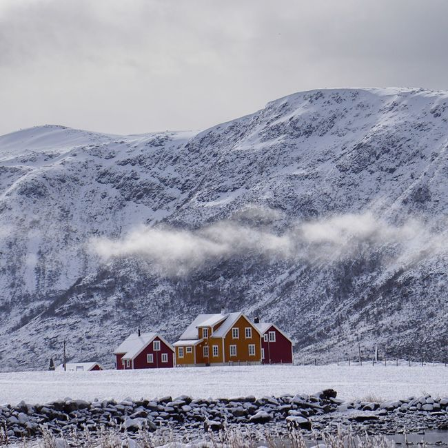 """Sometimes it snows in April..."" Nature Landscape Clouds And Sky Mountains EyeEm Best Shots Eye4photography  Snow Showcase April Norway Architecture Rural"
