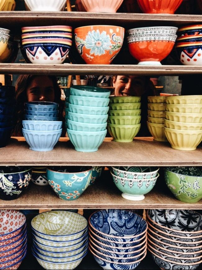 Anthropologie Anthro Bowls Colors Colored Bowls Artsy Peeking
