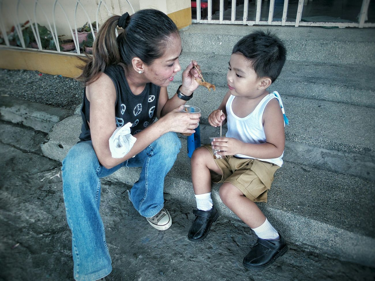RePicture Motherhood Nanay Streetfoodwithbuhawi Motherandson  Love Buhawiandnanay Fishballs Nanaynibuhawi Enjoying Life Check This Out