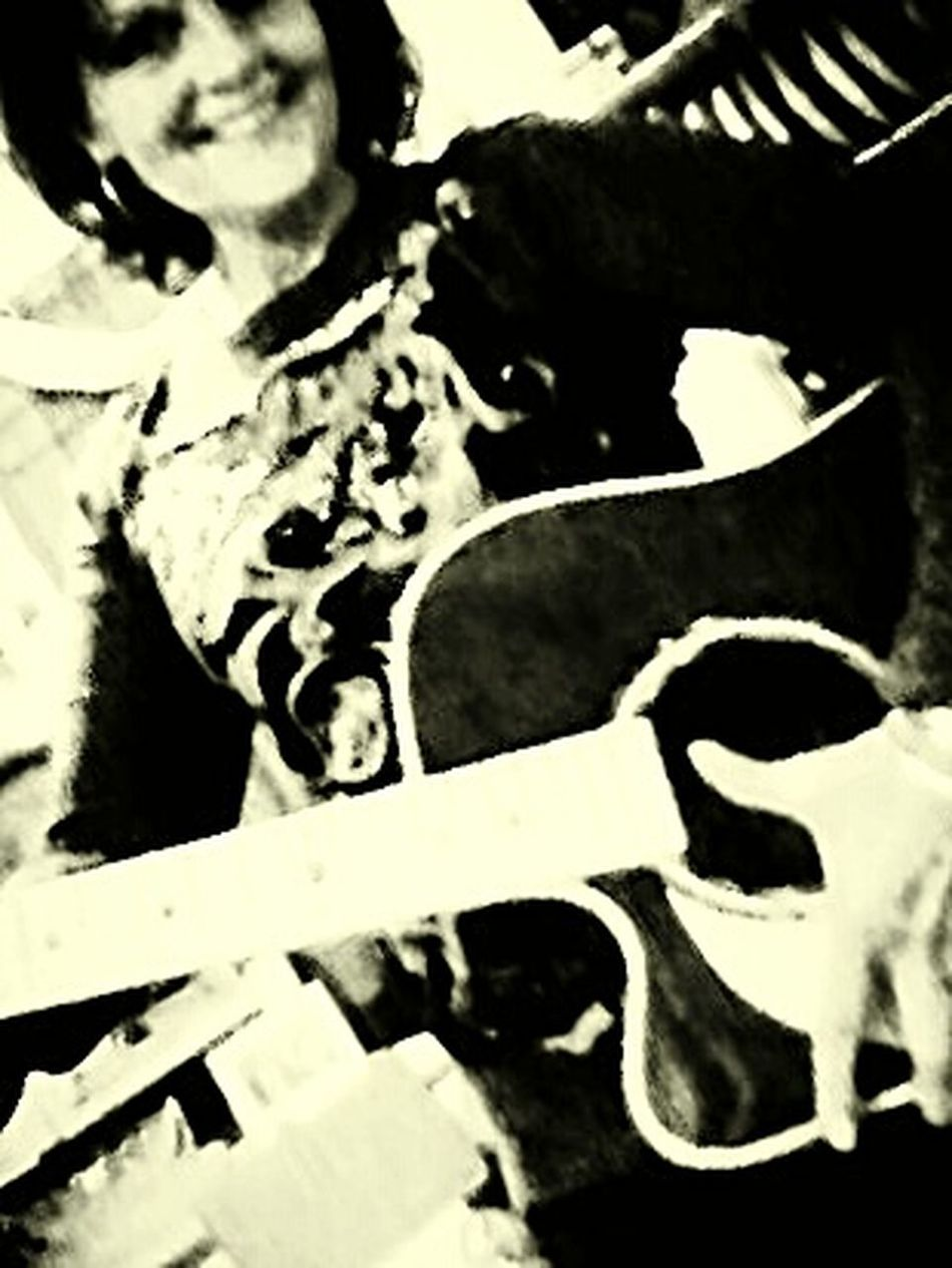 Selfie ✌ That's Me Black And White Photography Everyday Joy I Love My Guitar