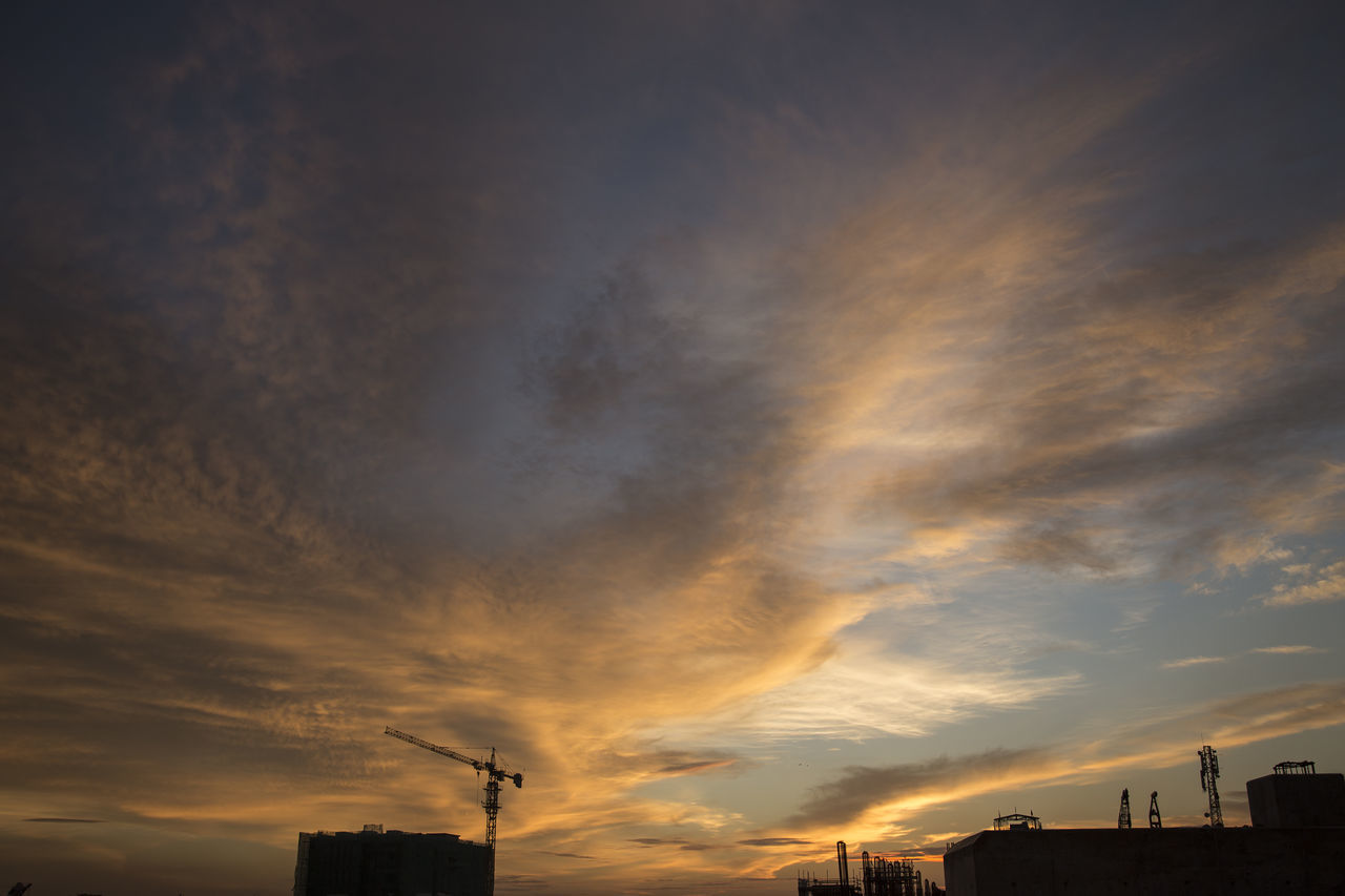 Architecture Building Exterior Built Structure City Cityscape Cloud - Sky Day Dramatic Sky Factory Low Angle View Nature No People Outdoors Silhouette Sky Sunset