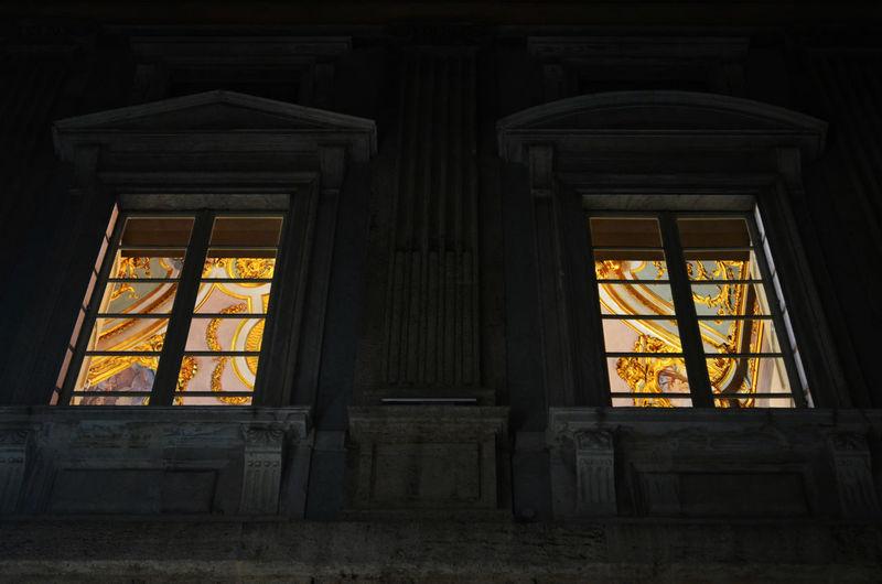 Architecture Architettura Finestre Genes Genova Genua Gold Historic Light And Shadow Painting Palace Palazzo Rolliday Windows