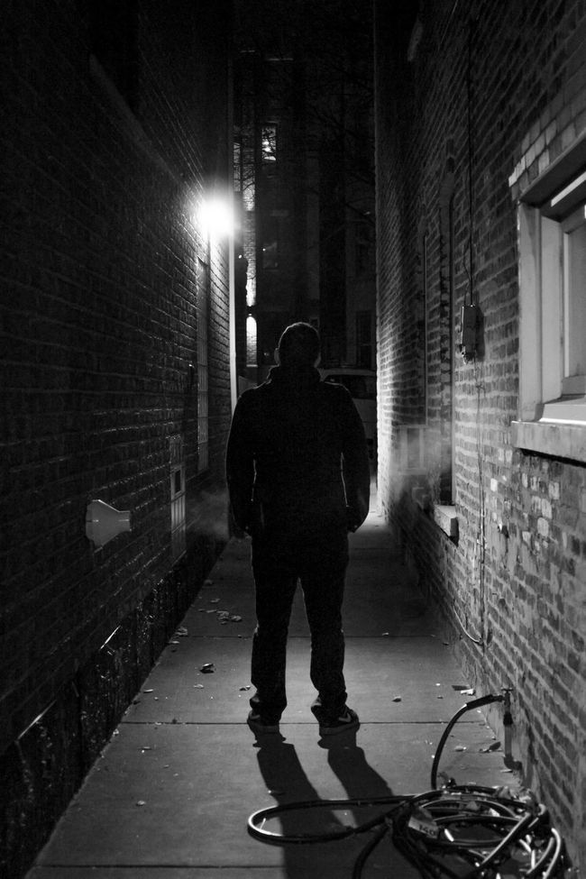 Architecture Black And White Black And White Portrait Blackandwhite Bridgeport  Building Showcase June Casual Clothing Chicago City City Life City Life Full Length Gangway Illuminated Intriguing Leisure Activity Fine Art Photography Night Monochrome Photography Portrait Portrait Of A Friend Feel The Journey Smoke The Way Forward