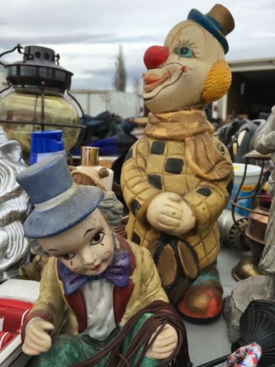 Thrifting... Clown Thrifting Figurine