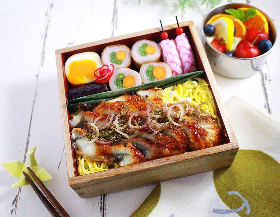Japanese Food Bento Bento Box Lunch Box Unagi Kendo Practice 息子弁当 奈良遠征