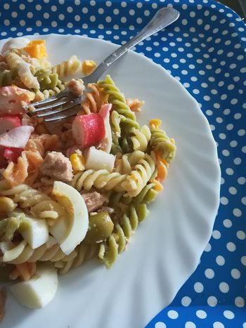 Pasta. Comidas Huevo Egg Atùn Plate Riquisimo Healthy Eating Food Day Ready-to-eat No People First Eyeem Photo