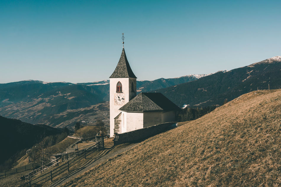 Little chapel high above Brixen in South Tyrol Alto Adige Alto Adige Architecture Believe Bright Day Building Catholic Chapel Christianity Church Classic Hi Hills History Landscape Mountains Peace Peaceful Religion South Tyrol Sunny Südtirol Tranquility View Winter