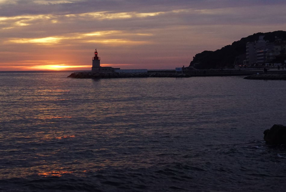 Sanary Sur Mer Sunset Phare Lighthouse