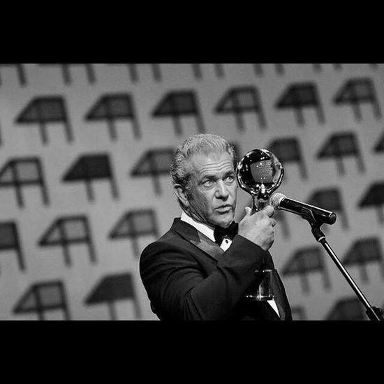 Mel Gibson - with award from Karlovy Vary Film Festival Mel Gibson Gibson Blackandwhite AWARD Film Festival Czech Republic Blackandwhite Photography