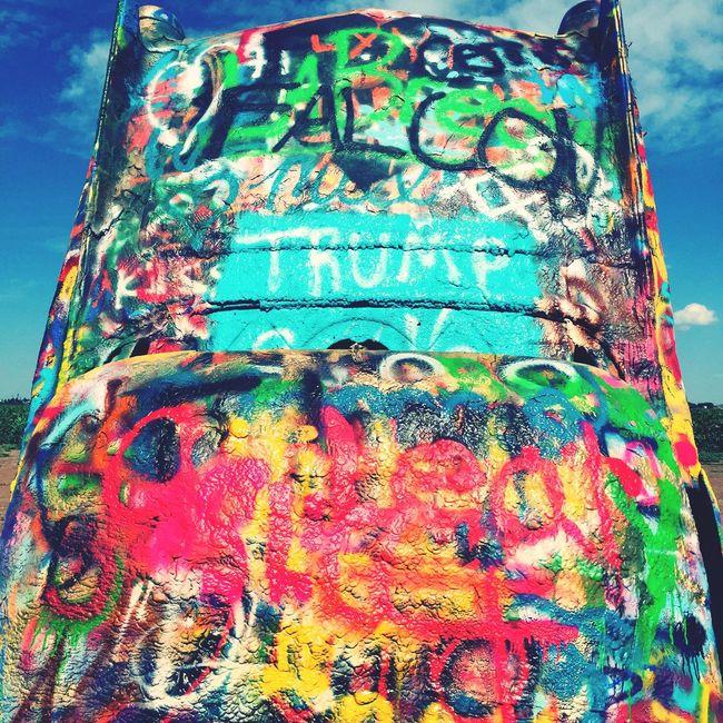 Car Graffiti Colors Cadillac Ranch Route 66