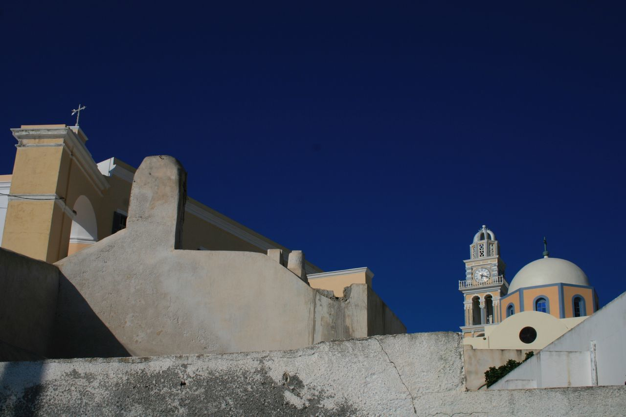 Churches of Santorini 🇬🇷 06 Architecture Built Structure Religion Building Exterior Clear Sky Blue Place Of Worship Outdoors Spirituality No People Whitewashed Day Sky Nature Cultures Canon400d Canonphotography Vacations Santorini, Greece Spirituality Place Of Worship Clear Sky