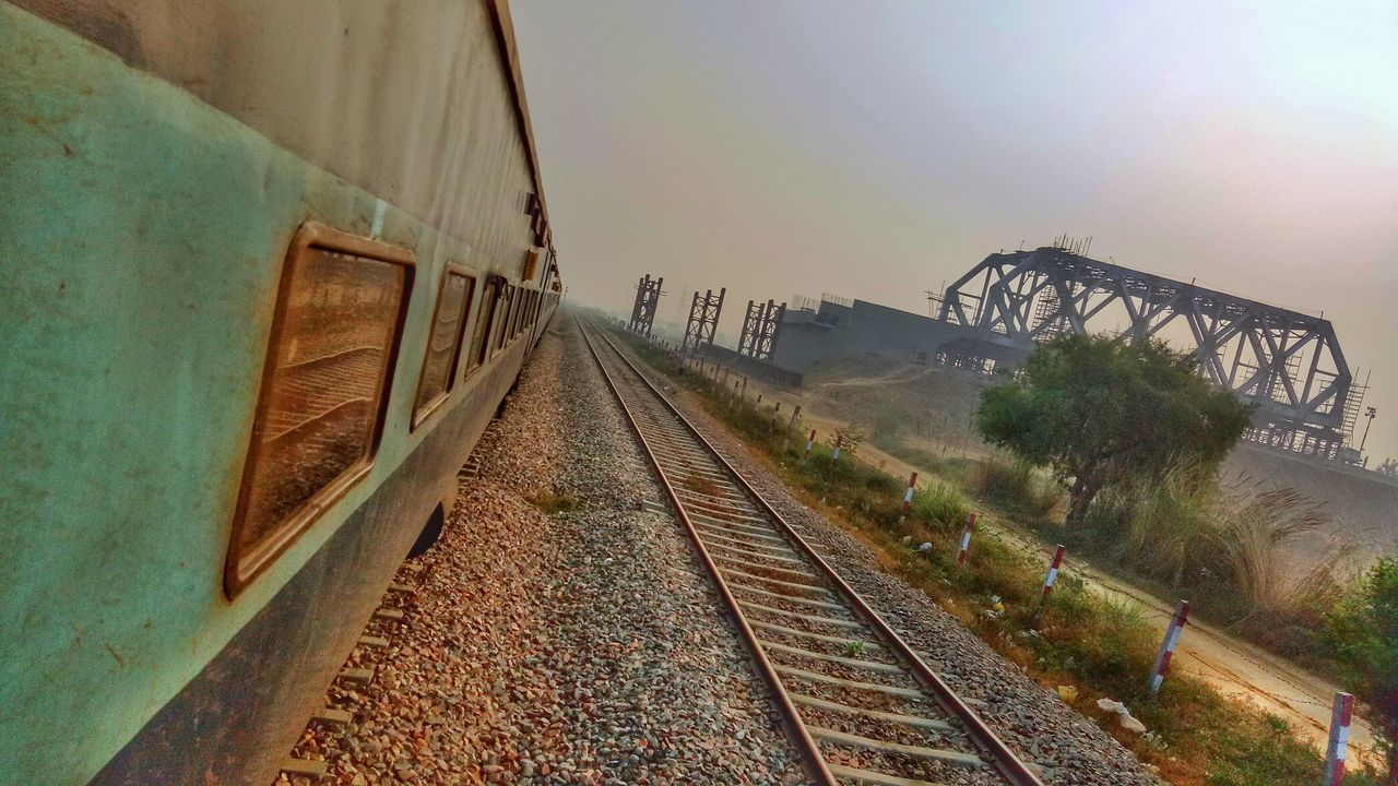 Perspectives On Nature Railroad Track No People Transportation Outdoors Day Sky Windowseatproject Indianrailways Indianrailwaysdiaries Incredibleindia Indiantourism