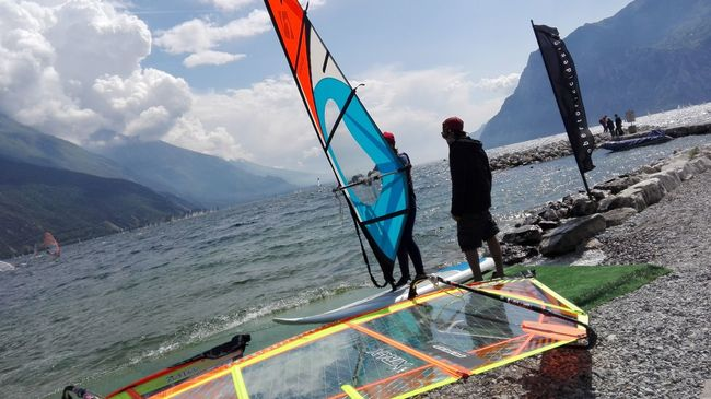 Surfing Lesson Surfing Life Surfin Torbole Lake Italy Hello World Sport Beutiful Sport No Edits No Filters No Filters