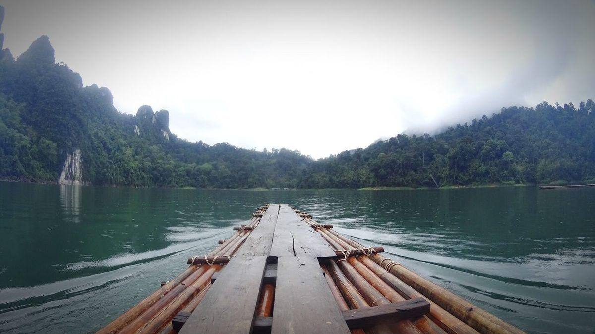 My Commute Bambooraft Bamboo Rafting Lake Forest Mountain Nature Adventure Sonyas100 Ratchaprapadam Feel The Journey