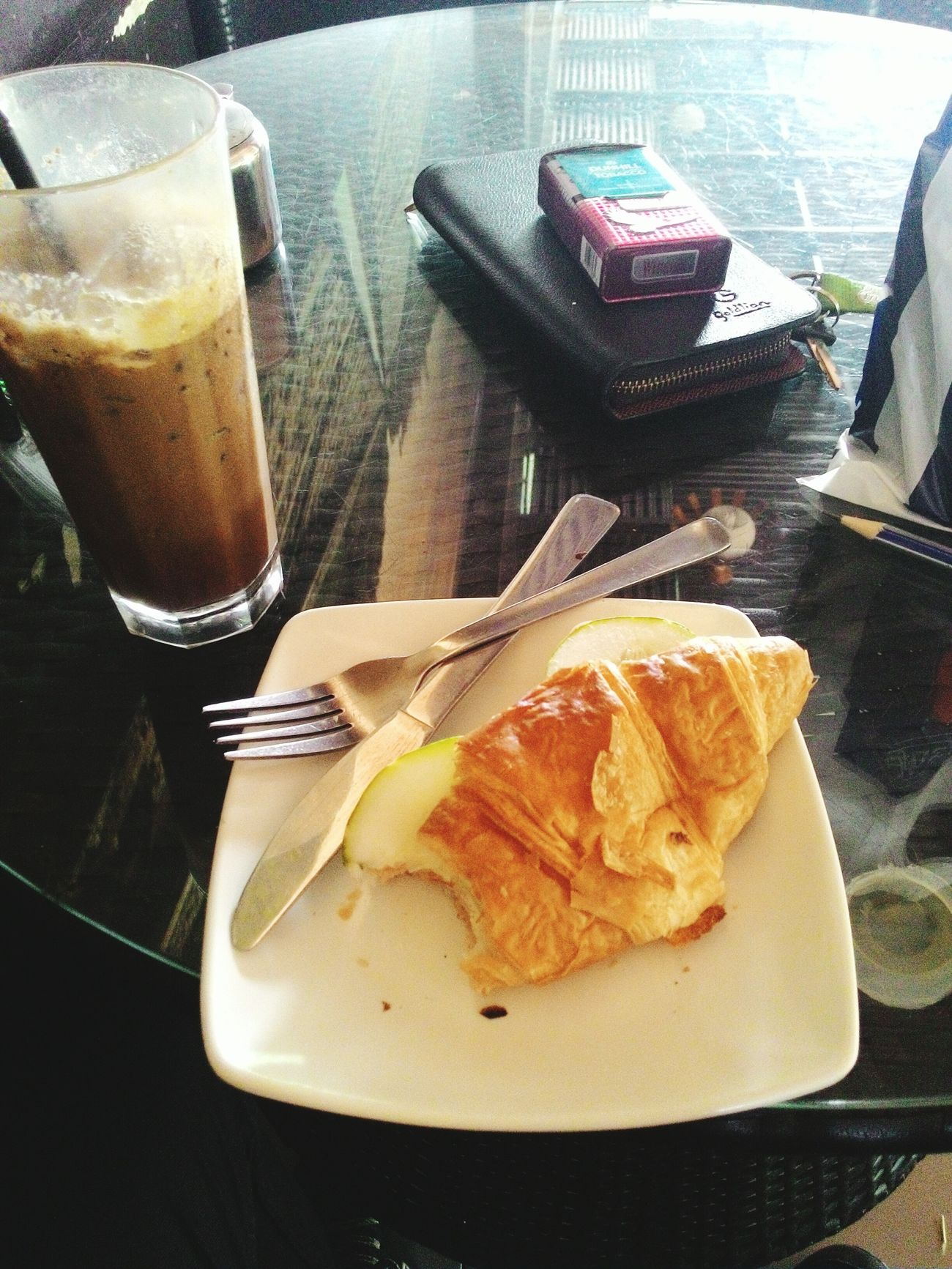 Why need fork with knife?? Sandwich Milo Great Drink Winston Delicious