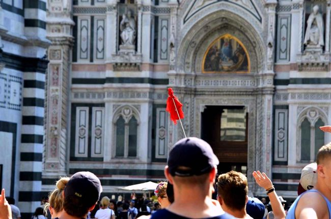 Redflag Tourism Tourist American Florence Italy Taking Photos Nikonphotography Eyeemphotography