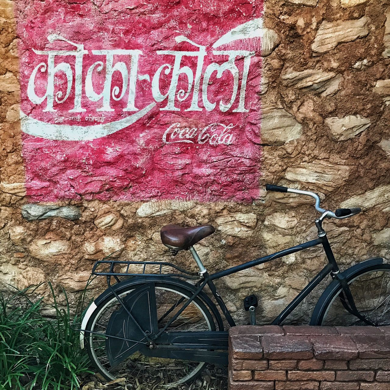 Bicycle Transportation Mode Of Transport Stationary No People Outdoors Land Vehicle Old-fashioned Text Flower Vacations Day Close-up