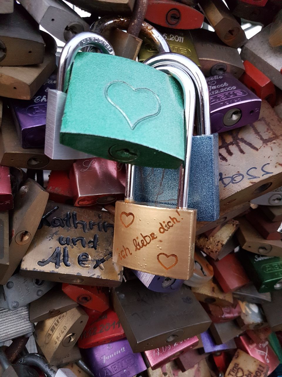 padlock, lock, security, love lock, love, safety, abundance, hope, large group of objects, variation, protection, metal, heart shape, hanging, close-up, no people, luck, hope - concept, multi colored, day, full frame, outdoors
