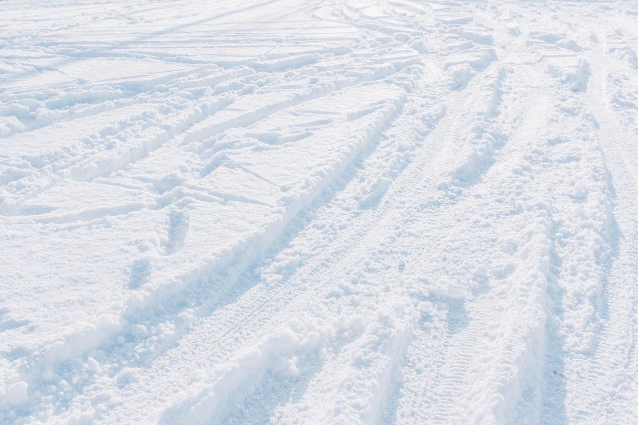 Winter Snow Traces White