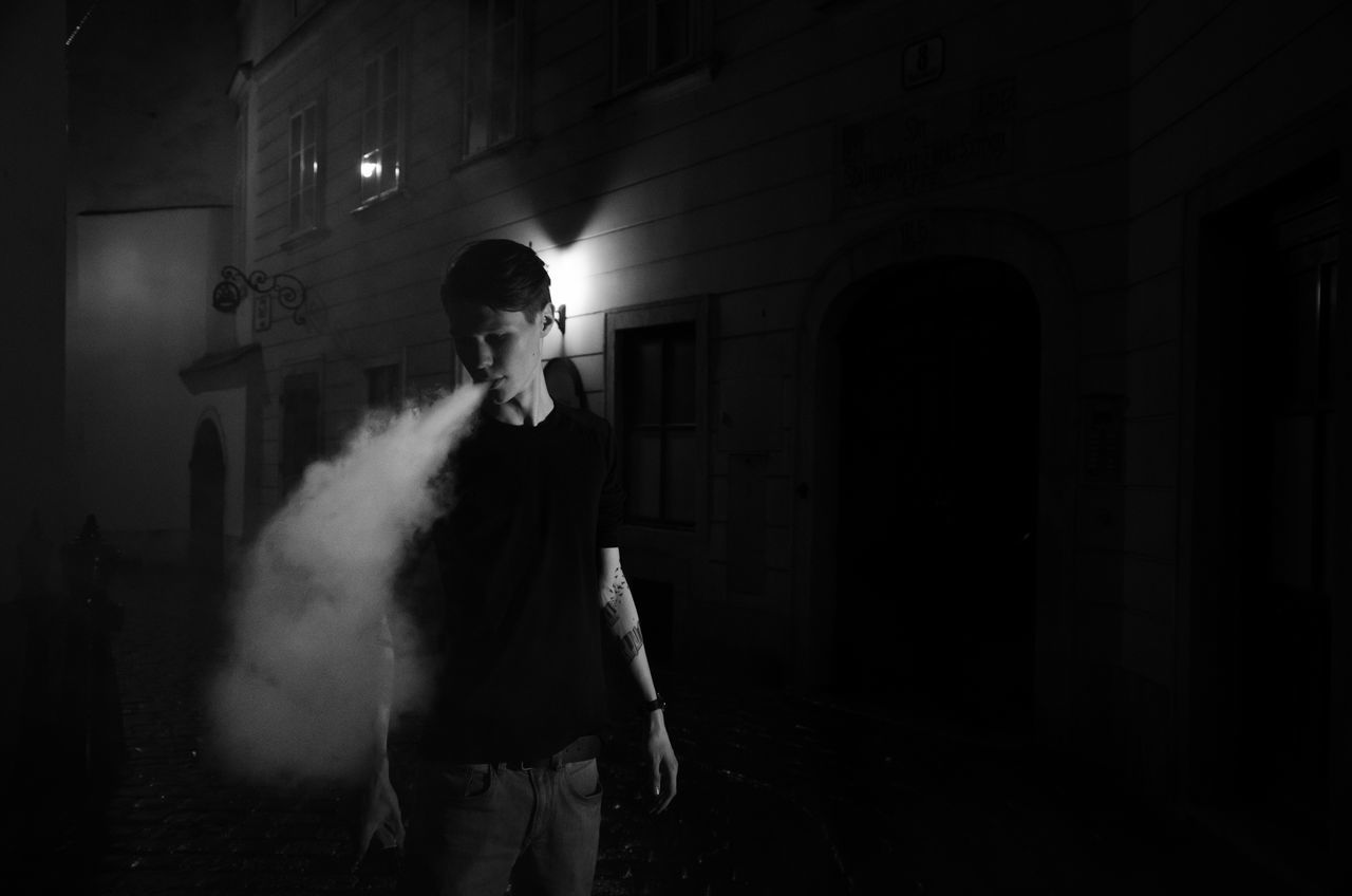 #B&W #blackandwhite #lifestyle #Lowlight #modeling  #Night #smoke #tattoo #vape #Vienna